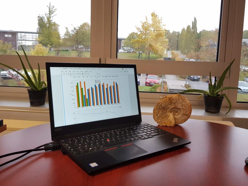 ordinateur présentant l'outil